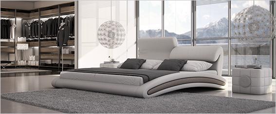 m bel modern designer betten f r exklusiven schlafgenuss. Black Bedroom Furniture Sets. Home Design Ideas