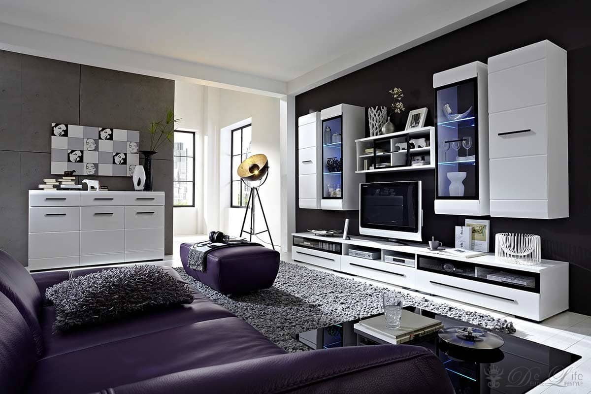 wohnzimmer sideboard wei h ngend. Black Bedroom Furniture Sets. Home Design Ideas