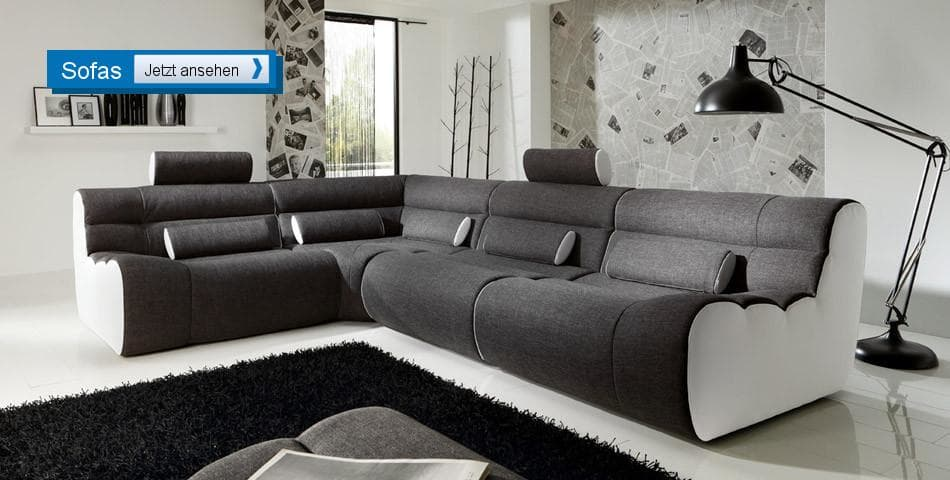 sofa modern g nstig. Black Bedroom Furniture Sets. Home Design Ideas