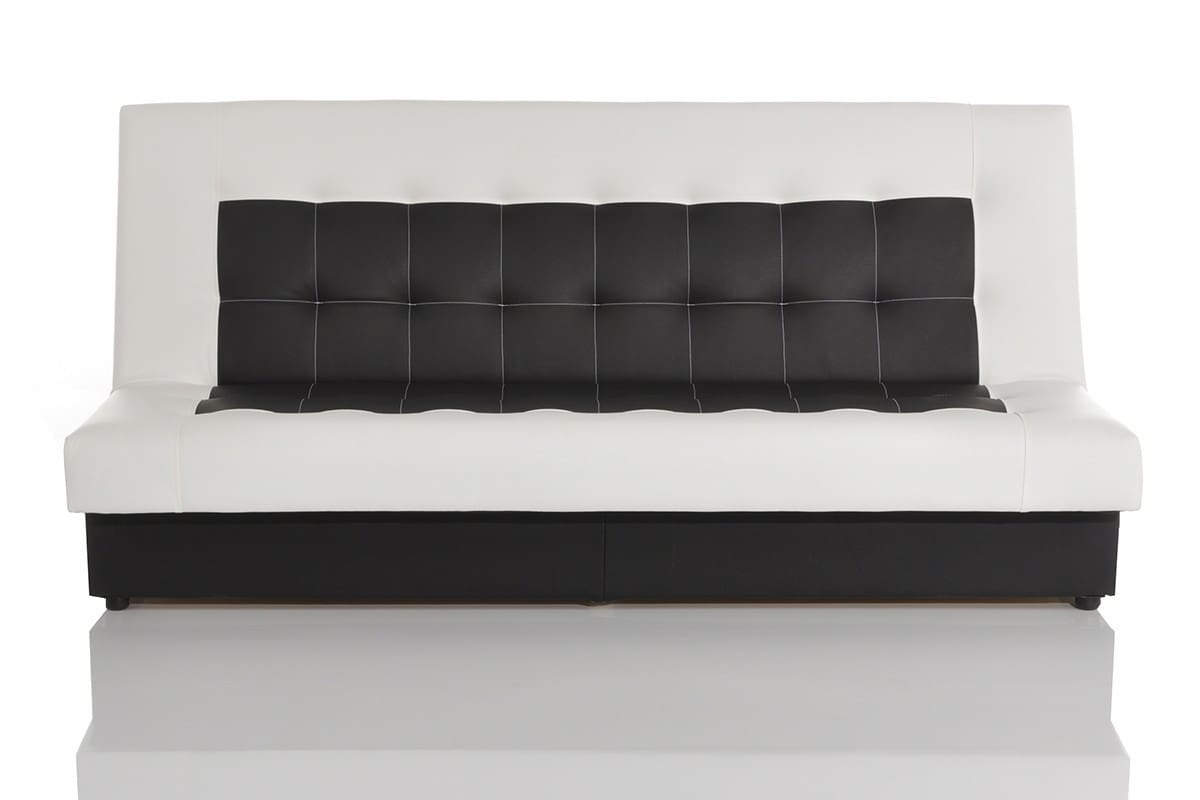 couch bulgur weiss schwarz 182x81 schlafsofa mit bettkasten. Black Bedroom Furniture Sets. Home Design Ideas