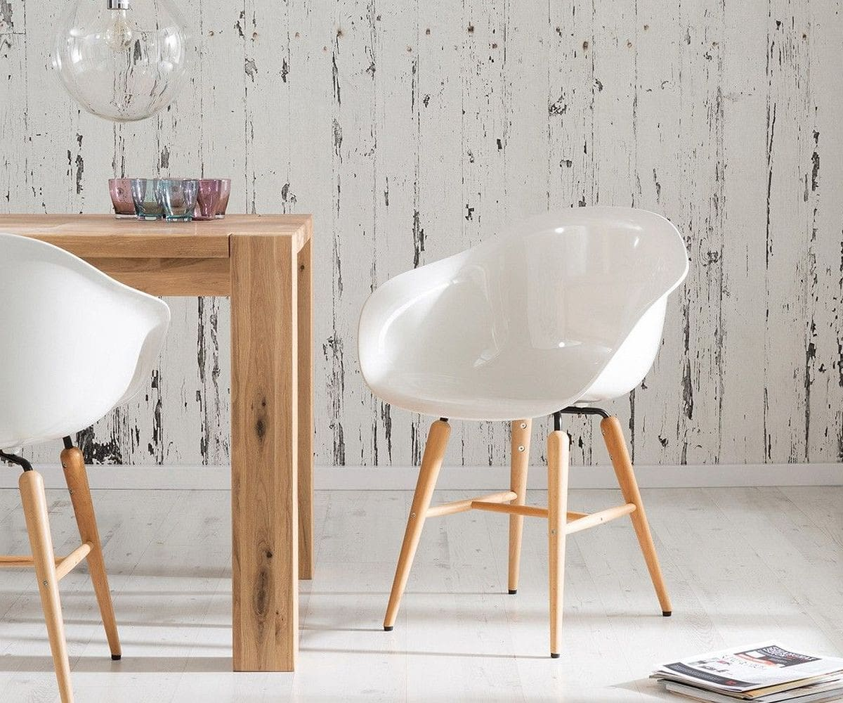 Esszimmerstuhl forum wood white weiss buchenholz hochglanz for Design armlehnstuhl