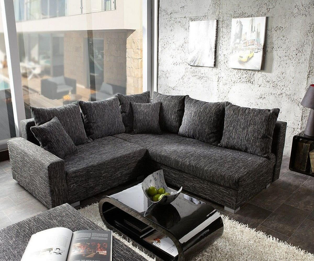 sofa lavello couch schwarz 210x210 mit hocker ottomane. Black Bedroom Furniture Sets. Home Design Ideas
