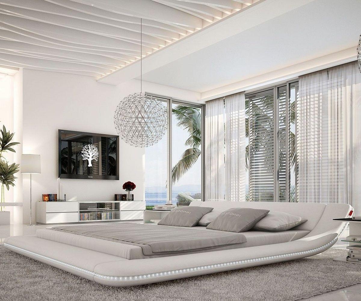 Wohnzimmerz: Bett Modern With Holzbett Aus Akazie Z.B. In Weiß ...