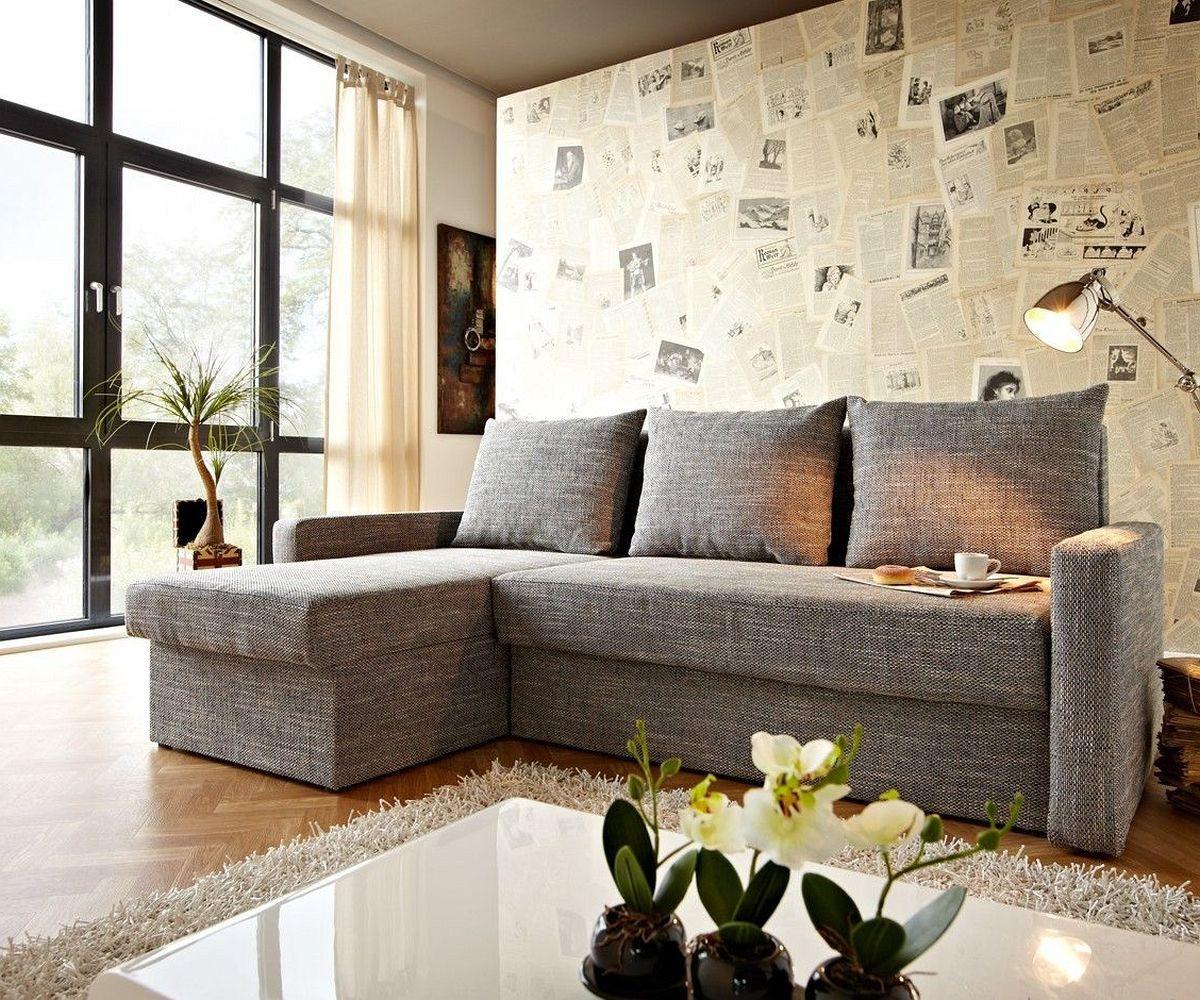 couch avondi hellgrau 225x145 mit bettkasten ottomane. Black Bedroom Furniture Sets. Home Design Ideas