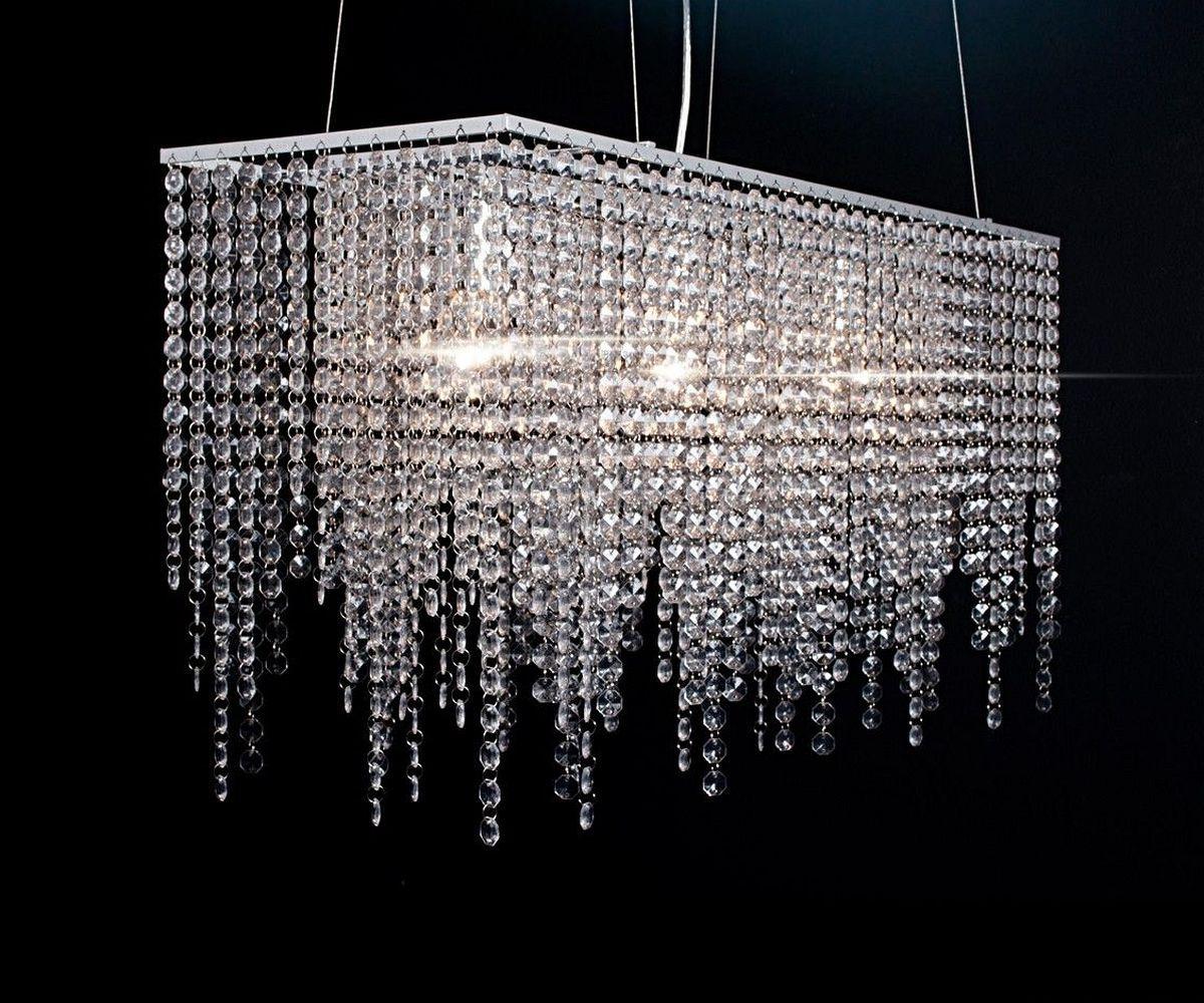 deckenleuchte ricca transparent acrylglas 80x58 kristalle h ngeleuchte. Black Bedroom Furniture Sets. Home Design Ideas