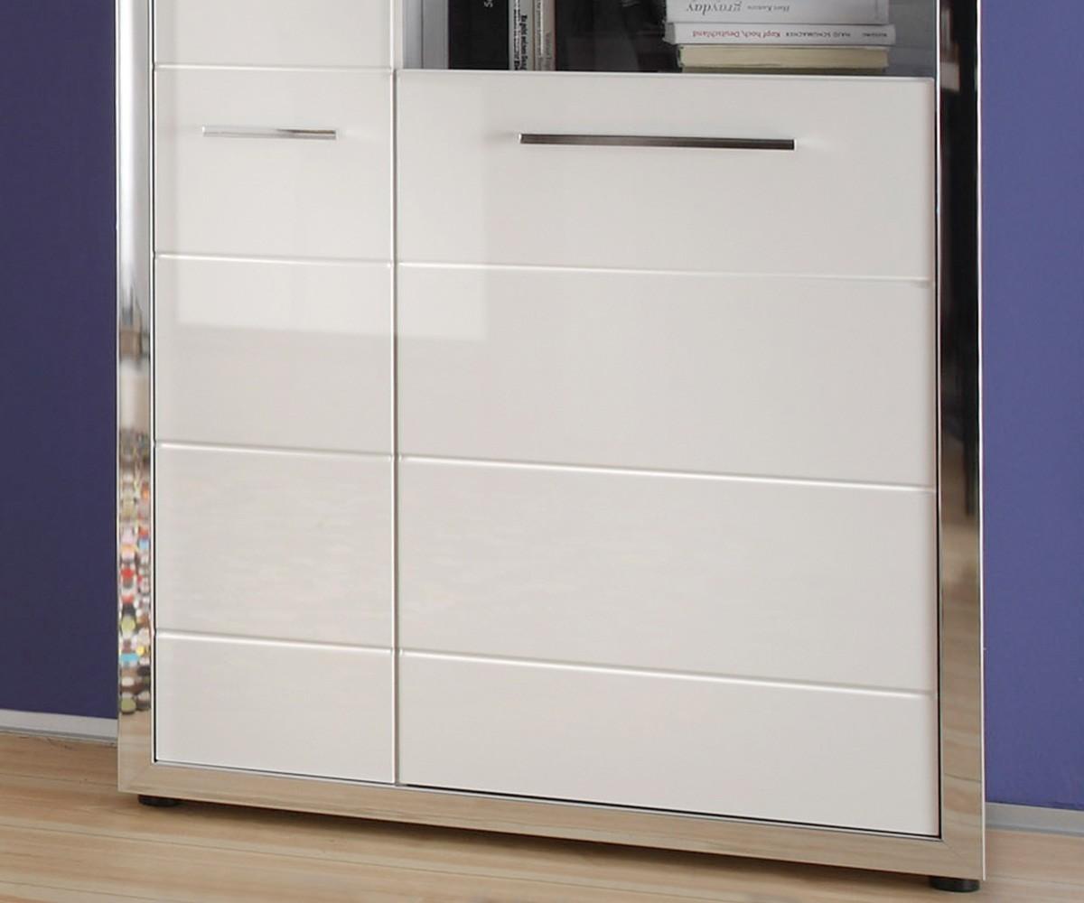 Kinderzimmer Ikea Einrichten ~ Vitrinenschrank Weiß  Vitrinenschrank Elbar Hochglanz Weiss 89×195